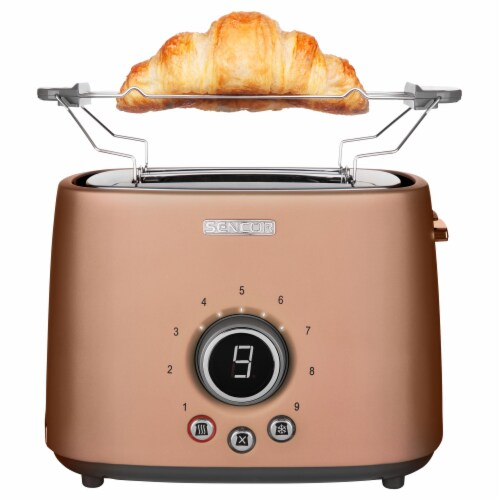 Sencor 2-Slot Toaster with Digital Button and Rack - Gold Perspective: back