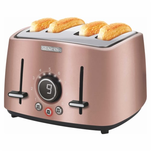 Sencor 4-Slot Toaster with Digital Button and Rack - Pink Perspective: back