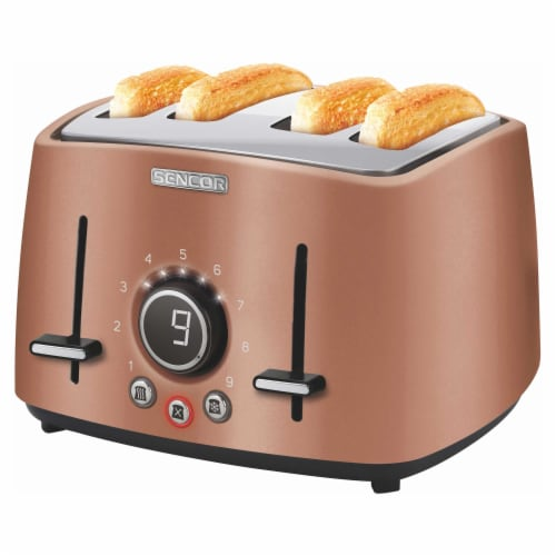 Sencor 4-Slot Toaster with Digital Button and Rack - Gold Perspective: back