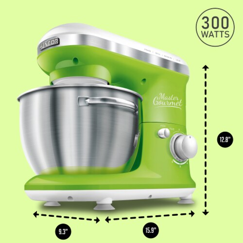 Sencor Stand Mixer with Pouring Shield - Green Perspective: back