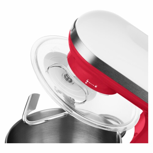 Sencor Stand Mixer with Pouring Shield - Red Perspective: back