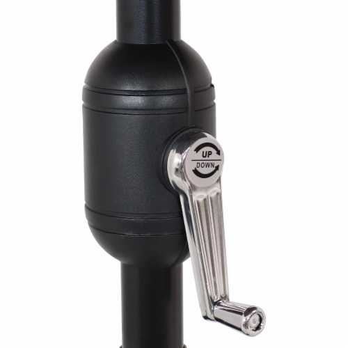 Sunnydaze Aluminum Patio Market Umbrella with Tilt and Crank - 9' - Burnt Orange Perspective: back