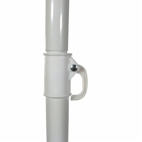 Sunnydaze Beach Umbrella w/ Tilt Function Shaded Comfort - Steel - Red - 5' Perspective: back