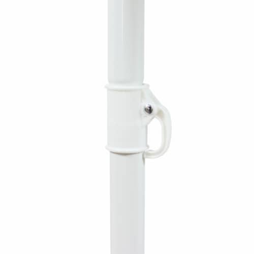 Sunnydaze Beach Umbrella w/ Tilt Function & Shaded Comfort - Gray - 5' Perspective: back