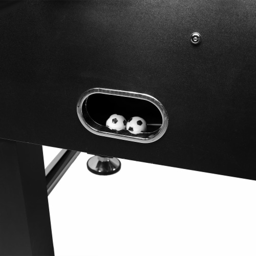 """Sunnydaze 55"""" Foosball Game Table with Drink Holders - Sports Arcade Soccer Perspective: back"""