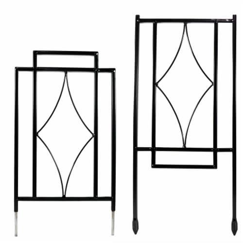 "Sunnydaze 30"" Durable Metal Wire Contemporary Garden Trellis for Plants-Set of 2 Perspective: back"