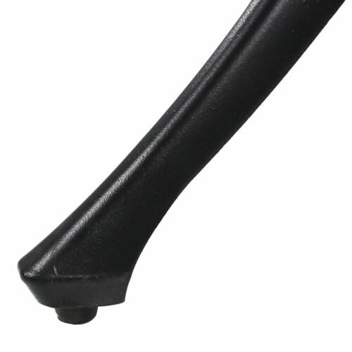 "Sunnydaze Black Heavy-Duty Cast Aluminum Outdoor Square Patio Dining Table - 35"" Perspective: back"