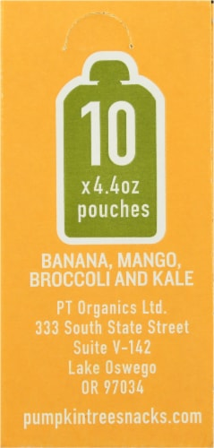 Peter Rabbit Organics Banana Mango Broccoli & Kale Puree Perspective: back