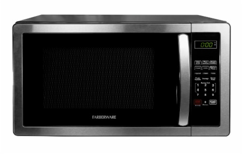 Farberware Classic 1000-Watt High Performance Microwave Oven - Stainless Steel Perspective: back