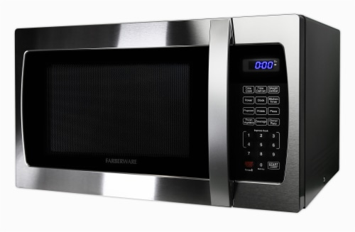 Farberware Professional 1000-Watt Microwave Oven - Stainless Steel Perspective: back