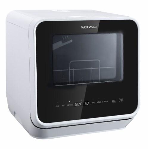 Farberware Professional Countertop Dishwasher - White Perspective: back