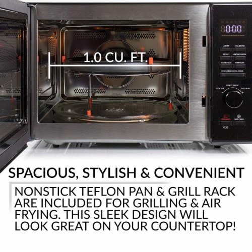 Farberware 1000-Watt Microwave Oven - Black / Stainless Steel Perspective: back