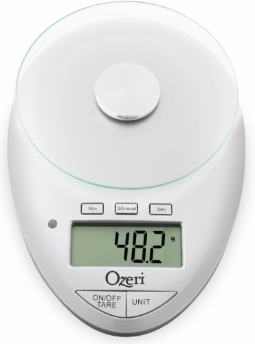 Ozeri Pro II Digital Kitchen Scale with Removable Glass Platform and Kitchen Timer Perspective: back