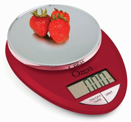 Ozeri Pro Digital Kitchen Food Scale, 0.05 oz to 12 lbs (1 gram to 5.4 kg) Perspective: back