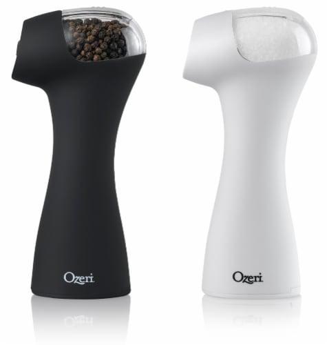 Ozeri Graviti Pro II Electric Salt and Pepper Grinder Set, BPA-Free Perspective: back