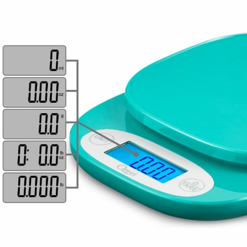 Ozeri ZK24 Garden and Kitchen Scale, with 0.5 g (0.01 oz) Precision Weighing Technology Perspective: back