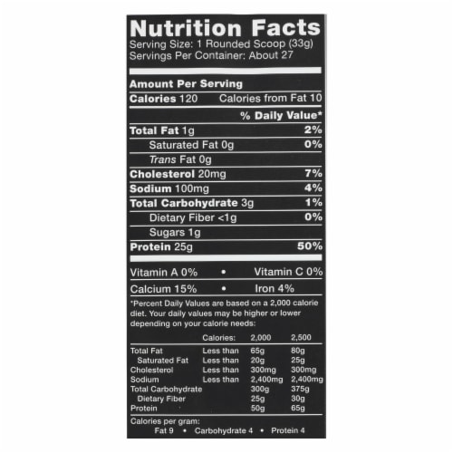Ascent Native Fuel Chocolate Whey Protein Powder Perspective: back