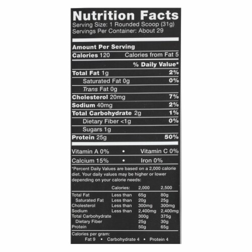 Ascent Native Fuel Vanilla Bean Whey Protein Powder Perspective: back