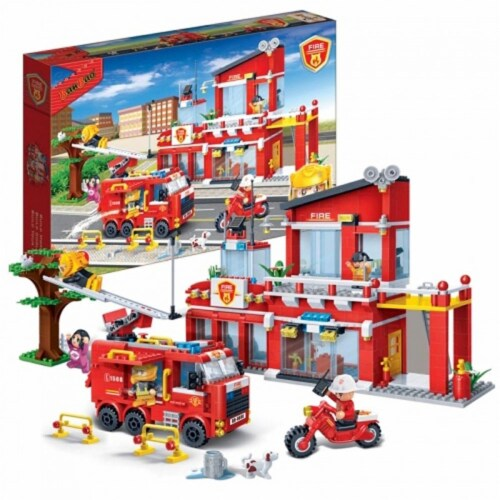 BanBao Interlocking Blocks Fire Station 7101 (828 Pcs) Perspective: back