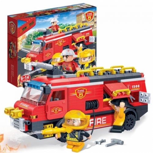 BanBao Interlocking Blocks Fire Engine 7103 (288 Pcs) Perspective: back