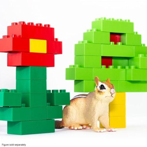 100 Pcs BiOBUDDi Assorted Blocks Set Perspective: back