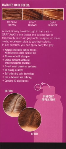 EVERPRO® Gray Away Light Brown Temporary Root Concealer Spray Perspective: back