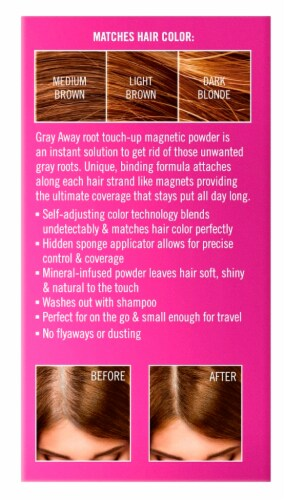 EVERPRObeauty Gray Away Root Touch-Up Magnetic Powder - Light Brown Perspective: back
