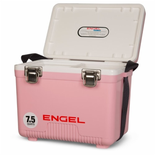 Engel 7.5-Quart EVA Gasket Seal Ice and DryBox Cooler with Carry Handles, Pink Perspective: back