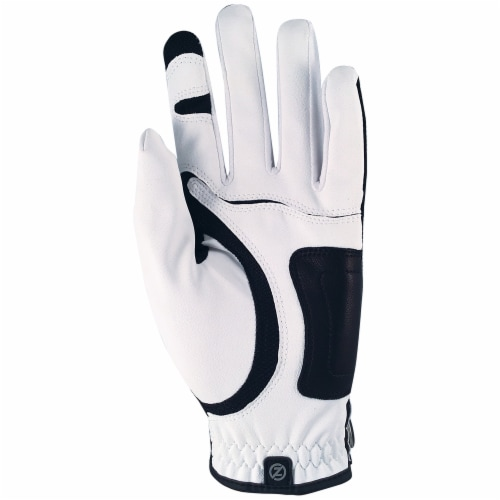 Zero Friction Men's Performance Universal Fit Left Hand Golf Glove - White Perspective: back