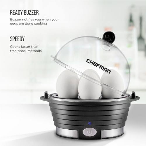 Chefman Electric Egg Cooker Boiler - Black Perspective: back