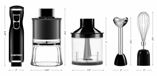 Chefman Electric Spiralizer & Immersion Blender 6-IN-1 Food Prep Combo Kit Perspective: back