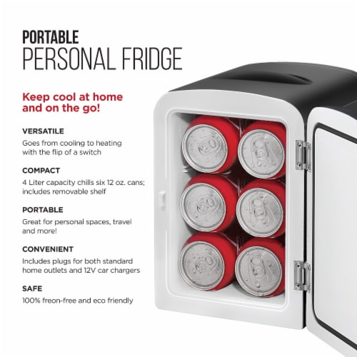 Chefman Mini Portable Fridge and Warmer - Black Perspective: back