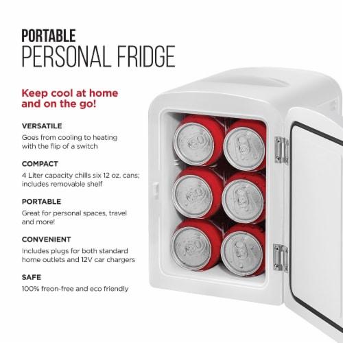 Chefman Mini Portable Personal Fridge - White Perspective: back