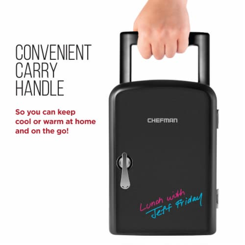 Chefman Mini Portable Eraser Board Personal Fridge - Black Perspective: back