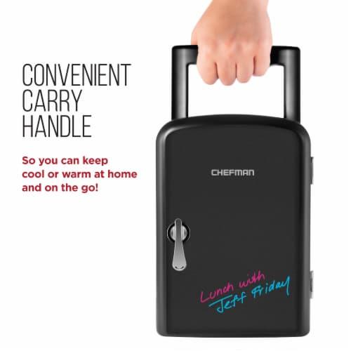 Chefman Mini Portable Eraser Board Personal Fridge - Black Perspective: back
