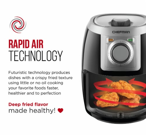 Chefman TurboFry Air Fryer - Black Perspective: back