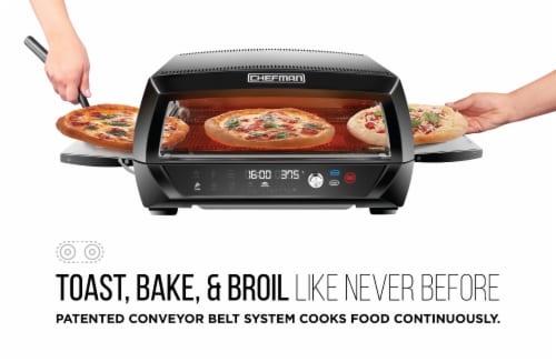 Chefman Food Mover Conveyor Toaster Oven - Black Perspective: back