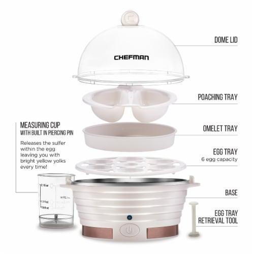 Chefman Electric Egg Cooker Boiler - Ivory Perspective: back