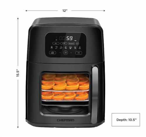 Chefman Auto-Stir Air Fryer Convection Oven Perspective: back