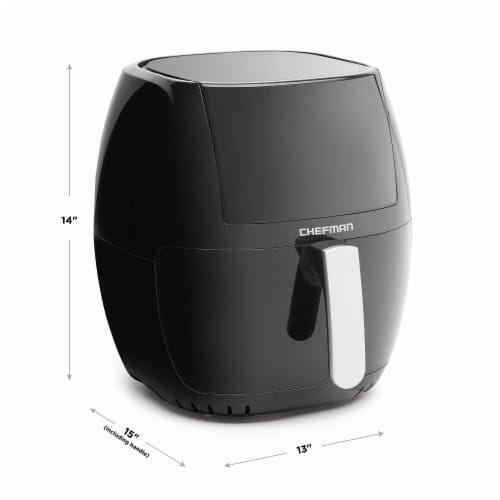 Chefman TurboFry Touch Air Fryer - Black Perspective: back