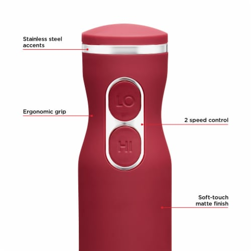 Chefman Immersion Stick Hand Blender - Red Perspective: back