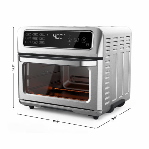 Chefman Stainless Steel Dual-Function Air Fryer and Toaster Oven Perspective: back