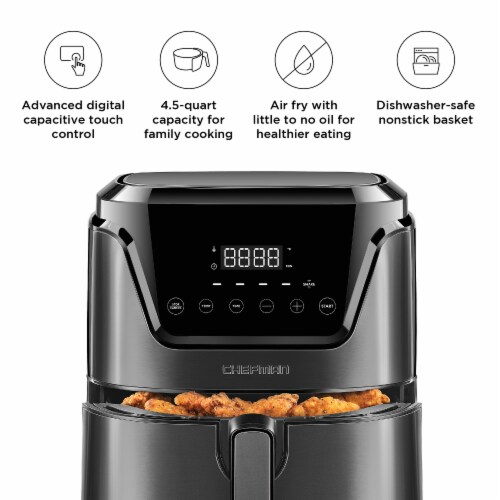 Chefman TurboFry Touch Digital Air Fryer - Black Perspective: back