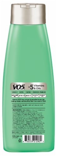 VO5 Herbal Escapes Kiwi Lime Squeeze Clarifying Shampoo Perspective: back