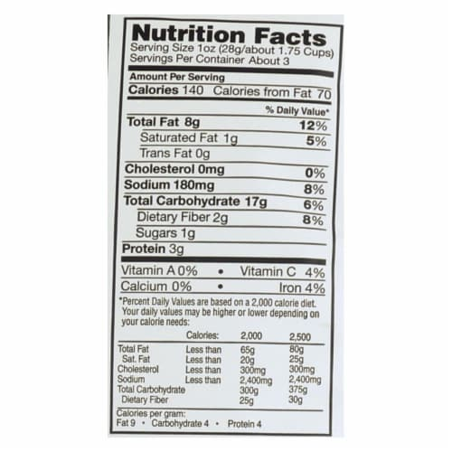 Vegan Rob's Puffs - Brussel Sprout - Case of 12 - 3.5 oz Perspective: back