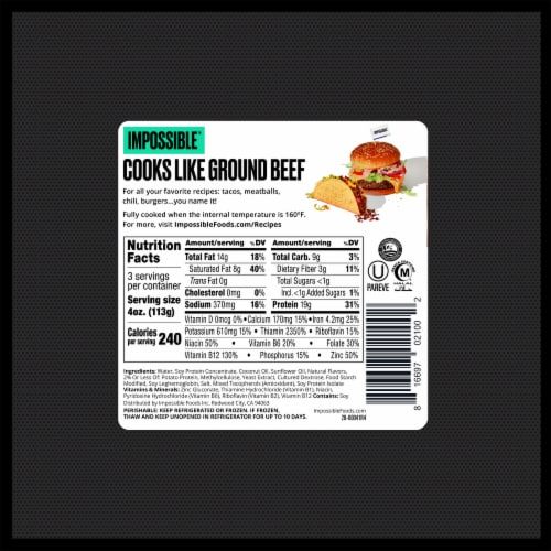Impossible Burger Perspective: back