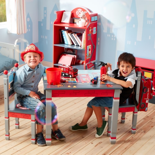 Fantasy Fields Lil Fire Fighters Childrens Kids Toddler Wooden Table TD-12514A1 Perspective: back