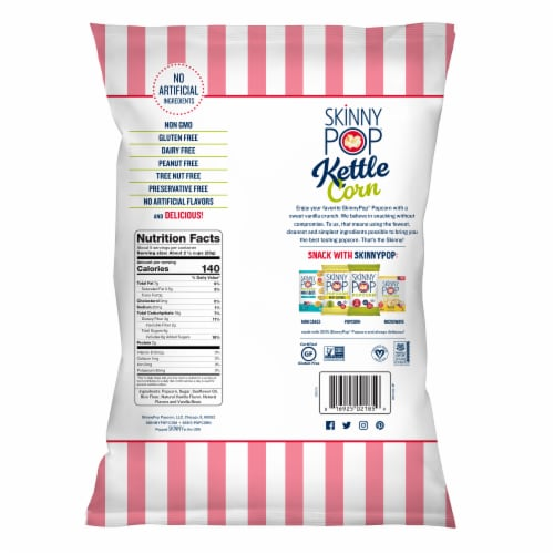 SkinnyPop Hint of Vanilla Kettle Corn Perspective: back