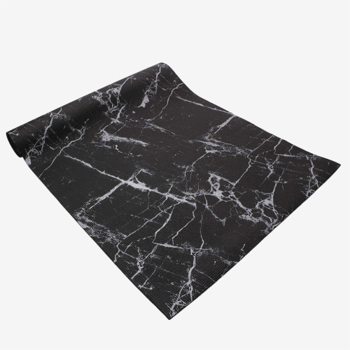Oak and Reed Non-Slip  Yoga Mat, Black Marble Perspective: back