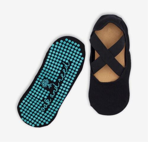 Oak and Reed Strapwork Gripper Yoga Socks, S/M Perspective: back
